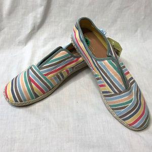 83ff896aa96 Toms Shoes - Toms Palmera Multi Beach strip Slip-Ons Flat Shoes